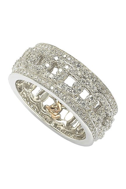 Image of Suzy Levian Sterling Silver Cutout CZ Band