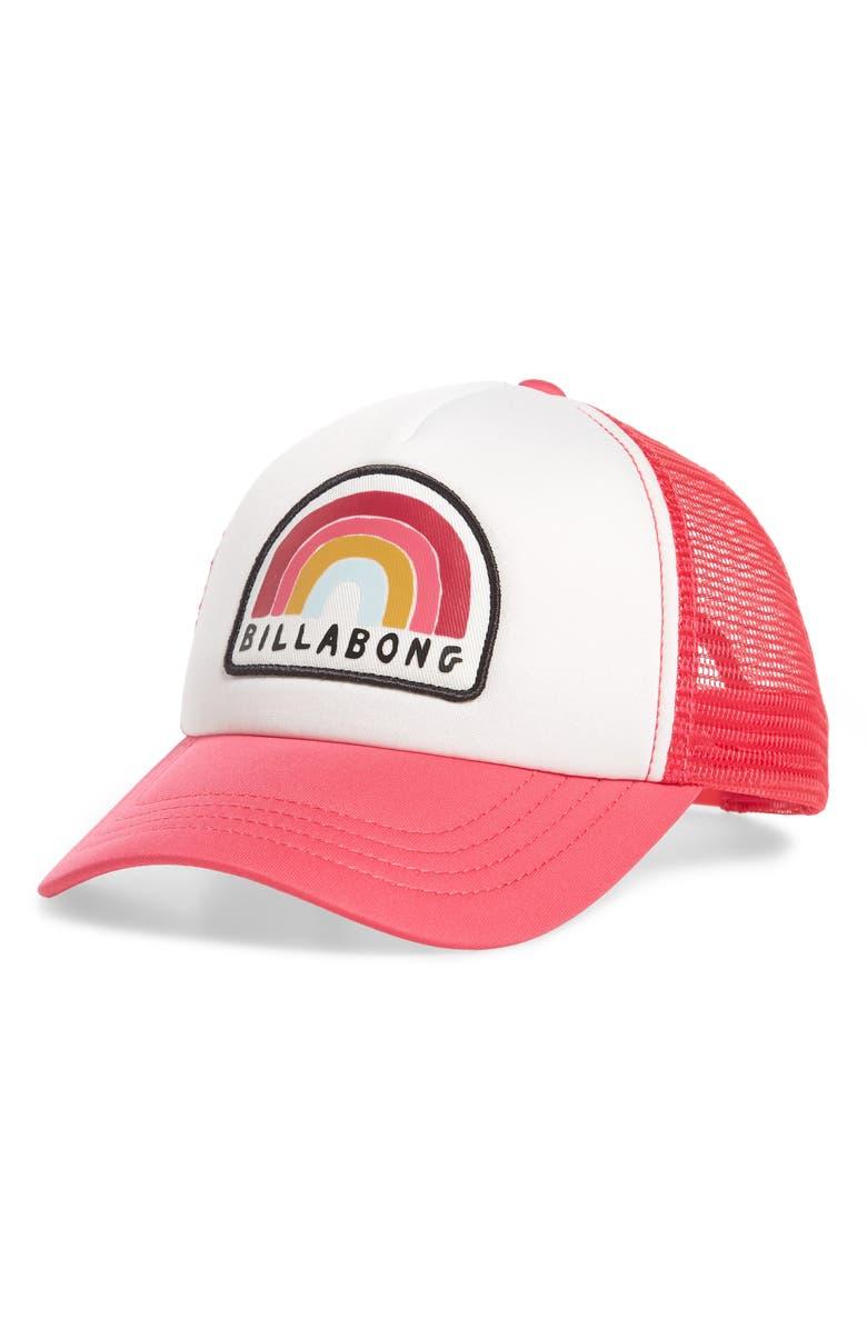 BILLABONG Ohana Trucker Hat, Main, color, SUNSET PINK