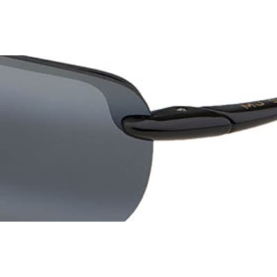 Maui Jim Sandy Beach 55mm Polarizedplus2 Semi Rimless Sunglasses - Black
