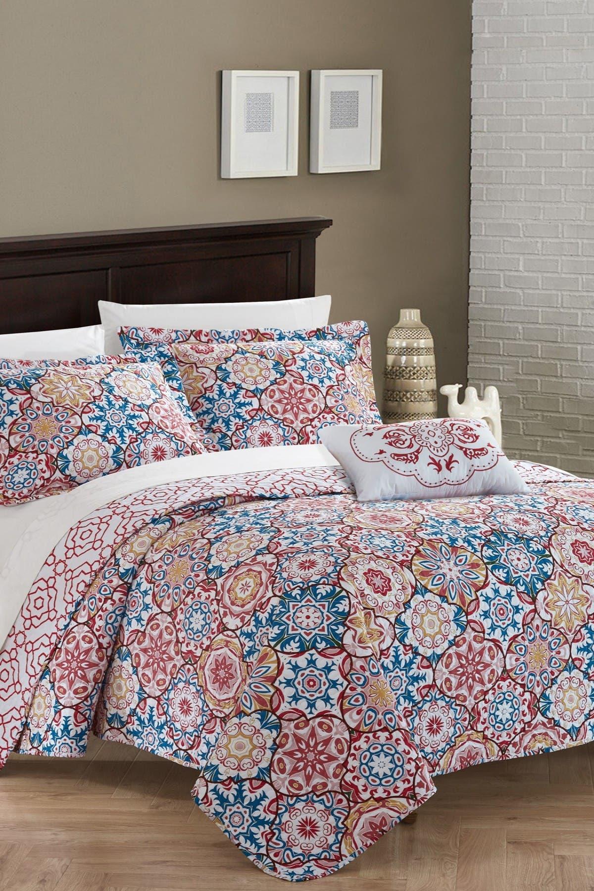 Chic Home Bedding Queen Eindhoven Reversible Quilt Set Pink Nordstrom Rack