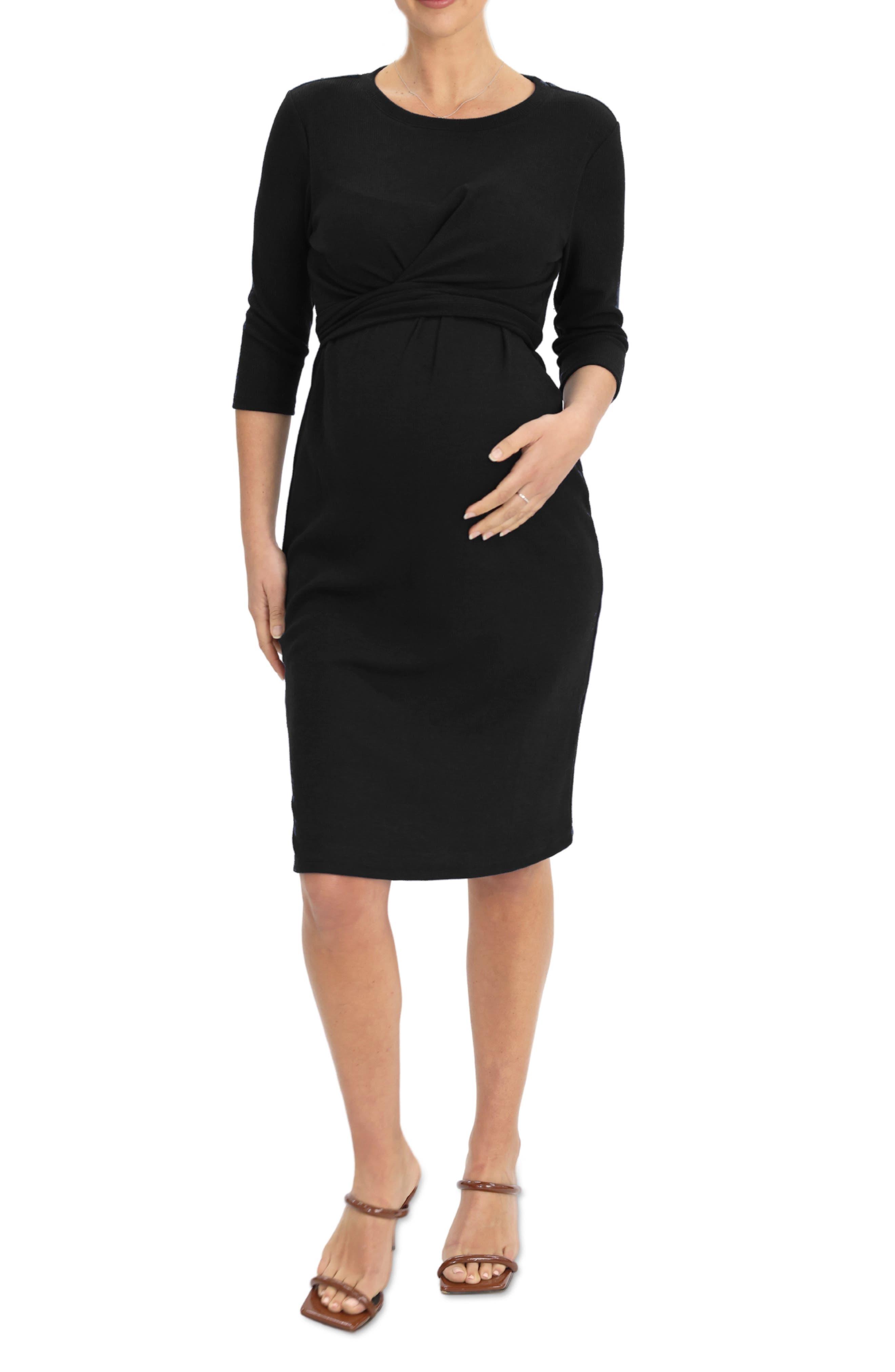 Tie Waist Maternity Dress