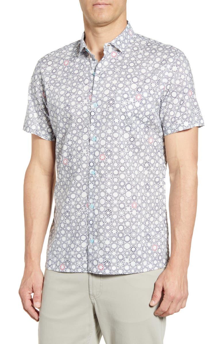 TORI RICHARD Trevi Regular Fit Sport Shirt, Main, color, WHITE
