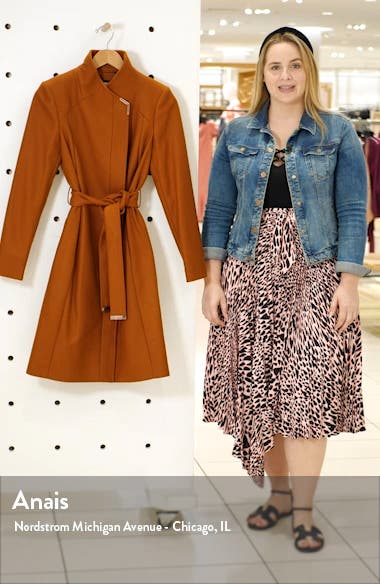 Ellgenc Belted Wrap Coat, sales video thumbnail