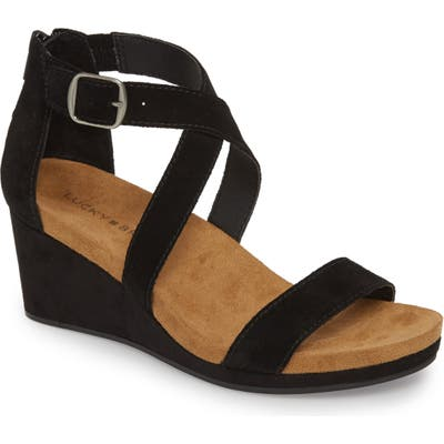 Lucky Brand Kenadee Wedge Sandal- Black