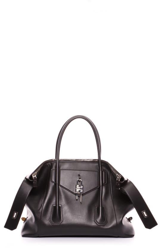 Givenchy Leathers MEDIUM ANTIGONA LOCK LEATHER TOTE