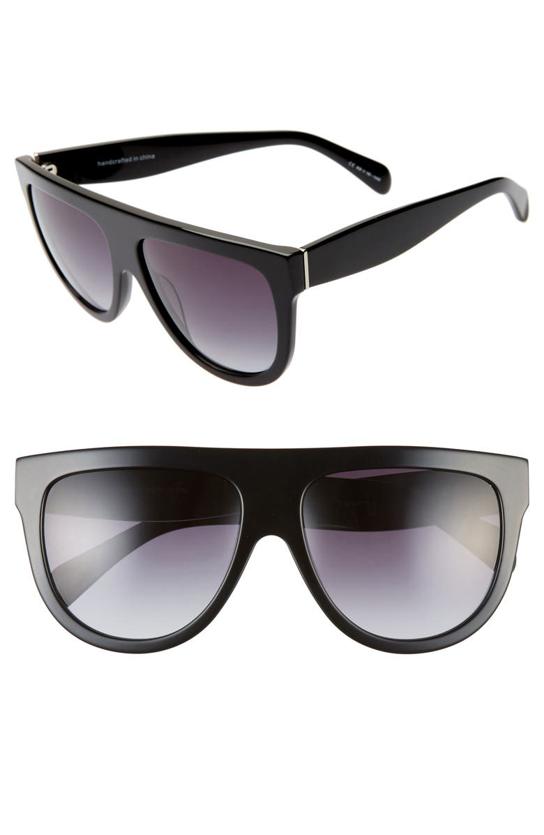 58mm Gradient Flat Top Sunglasses by Bp.