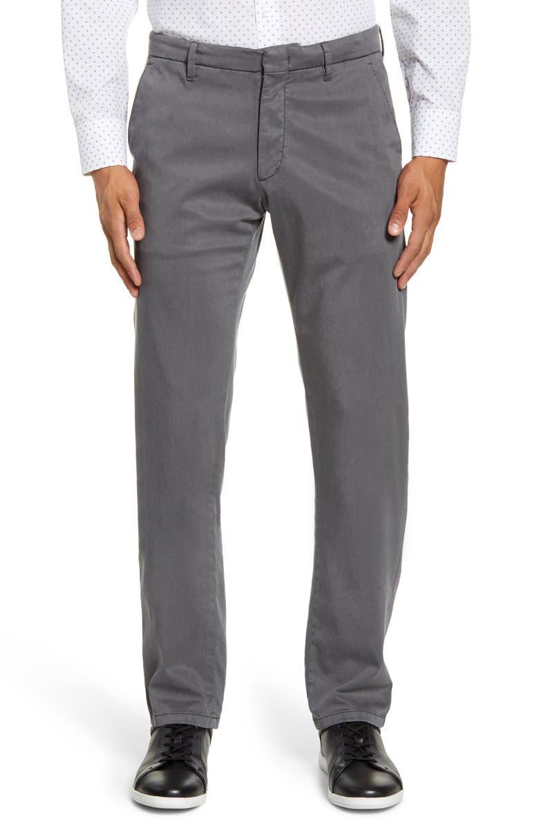 ZACHARY PRELL Aster Straight Leg Pants, Main, color, DK GREY