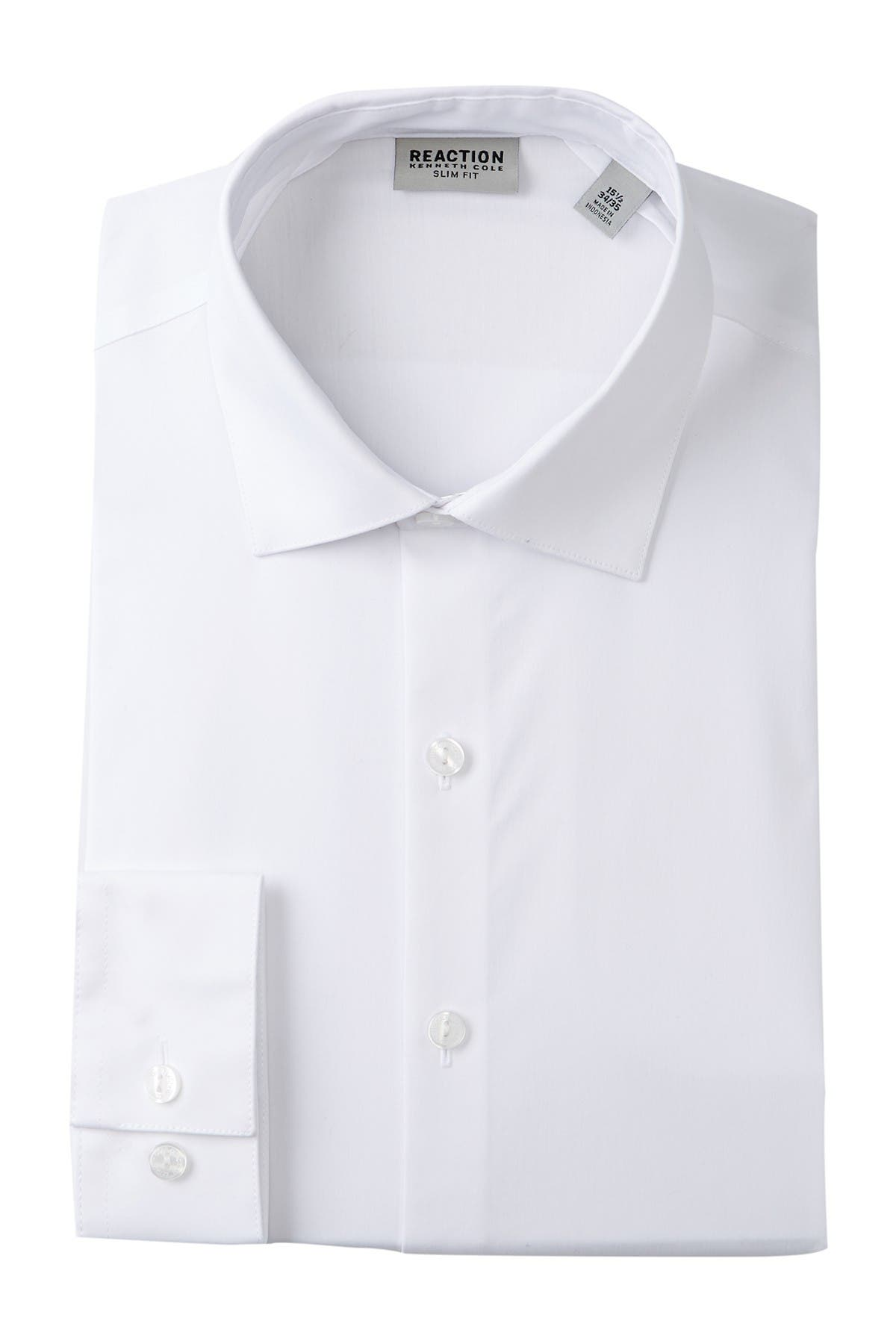 Image of Kenneth Cole Reaction Solid Slim Fit Dress Shirt