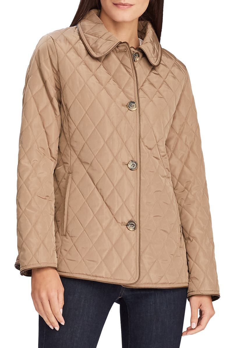 LAUREN RALPH LAUREN Quilted Jacket, Main, color, VICUNA