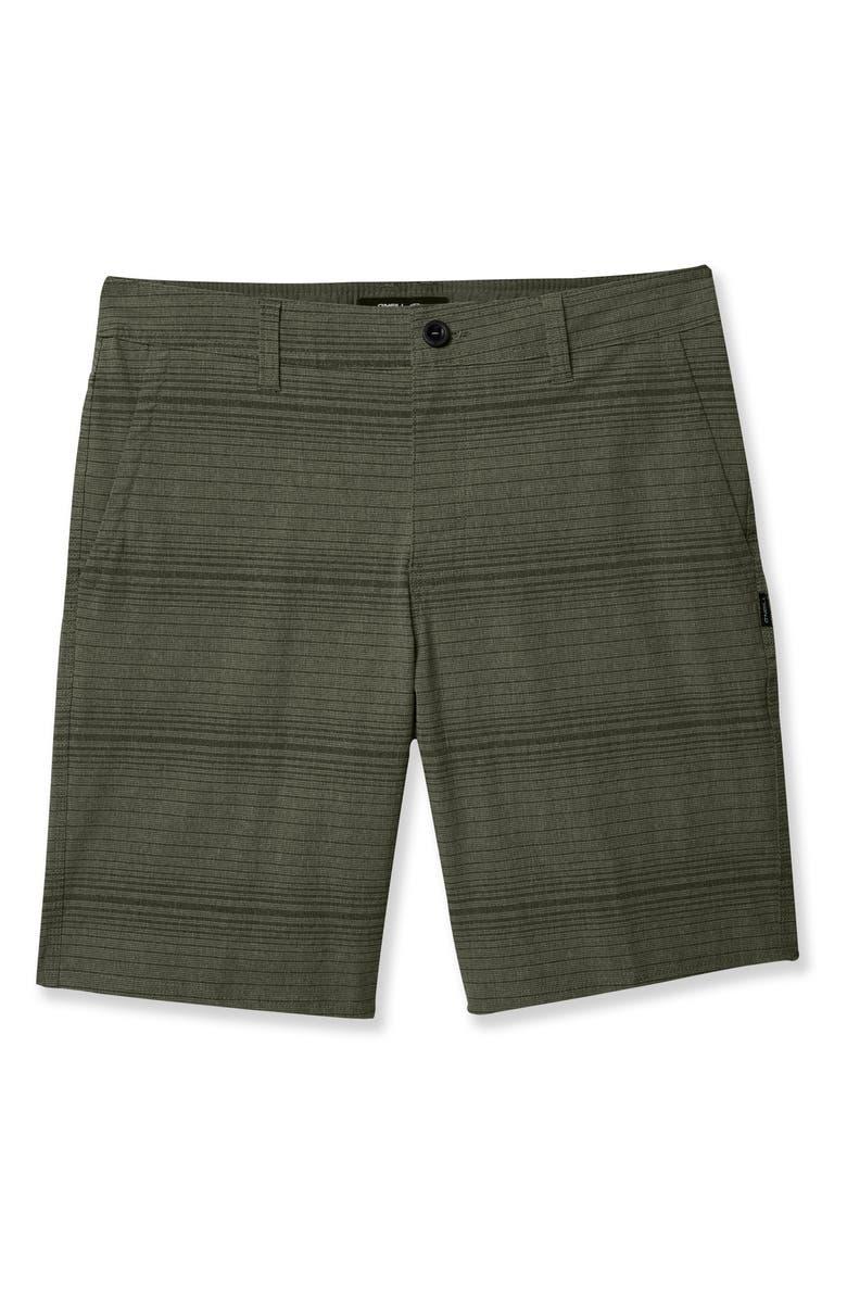 O'NEILL Locked Stripe Shorts, Main, color, ARMY GREEN