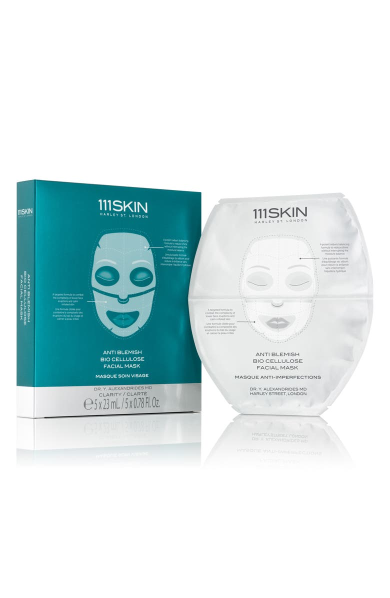 111SKIN SPACE.NK.apothecary 111SKIN Anti-Blemish Bio-Cellulose Facial Mask, Main, color, NO COLOR