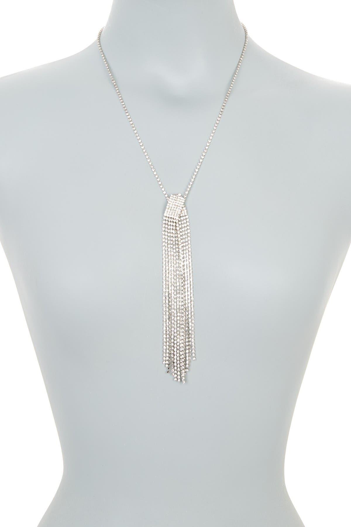 Image of CRISTABELLE Rhinestone Fringe Necklace