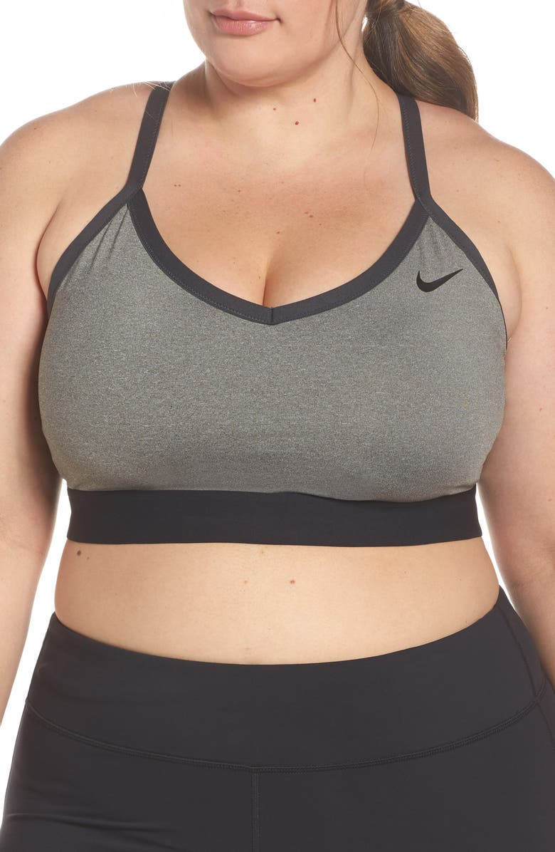 NIKE Indy Sports Bra, Main, color, HEATHER/ ANTHRACITE/ BLACK