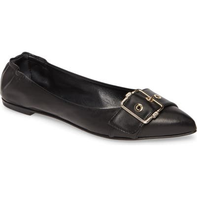 Agl Pointed Toe Ballet Flat - Black