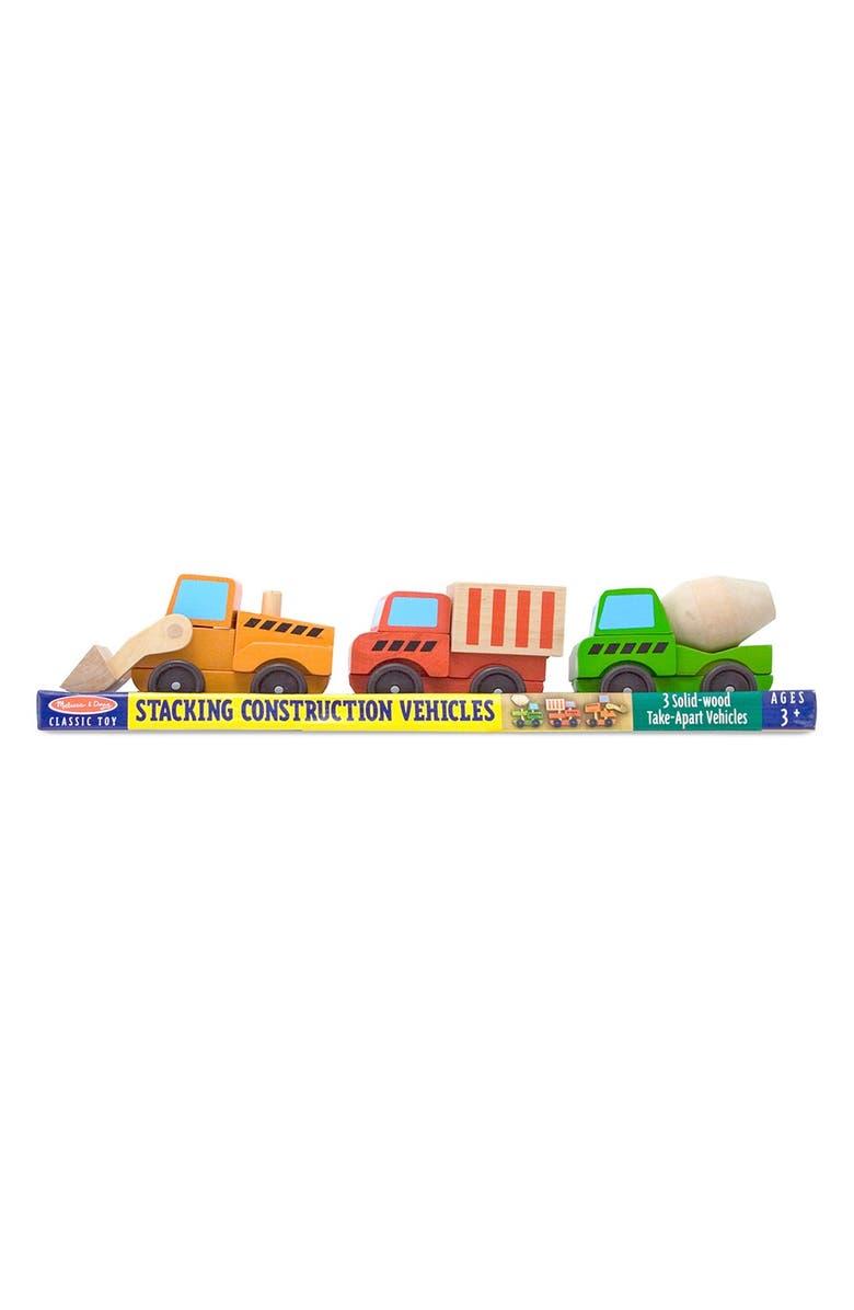 MELISSA & DOUG Stacking Construction Vehicles, Main, color, 960