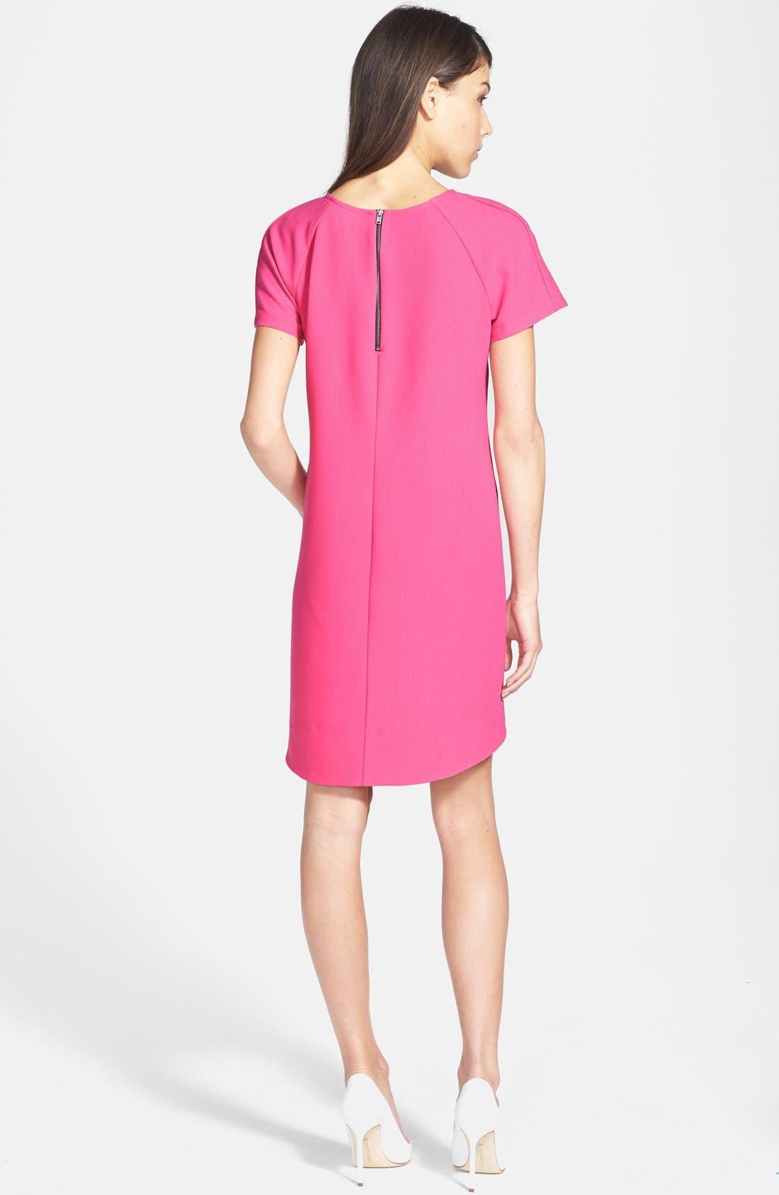 ,                             Crepe Shift Dress,                             Alternate thumbnail 12, color,                             650