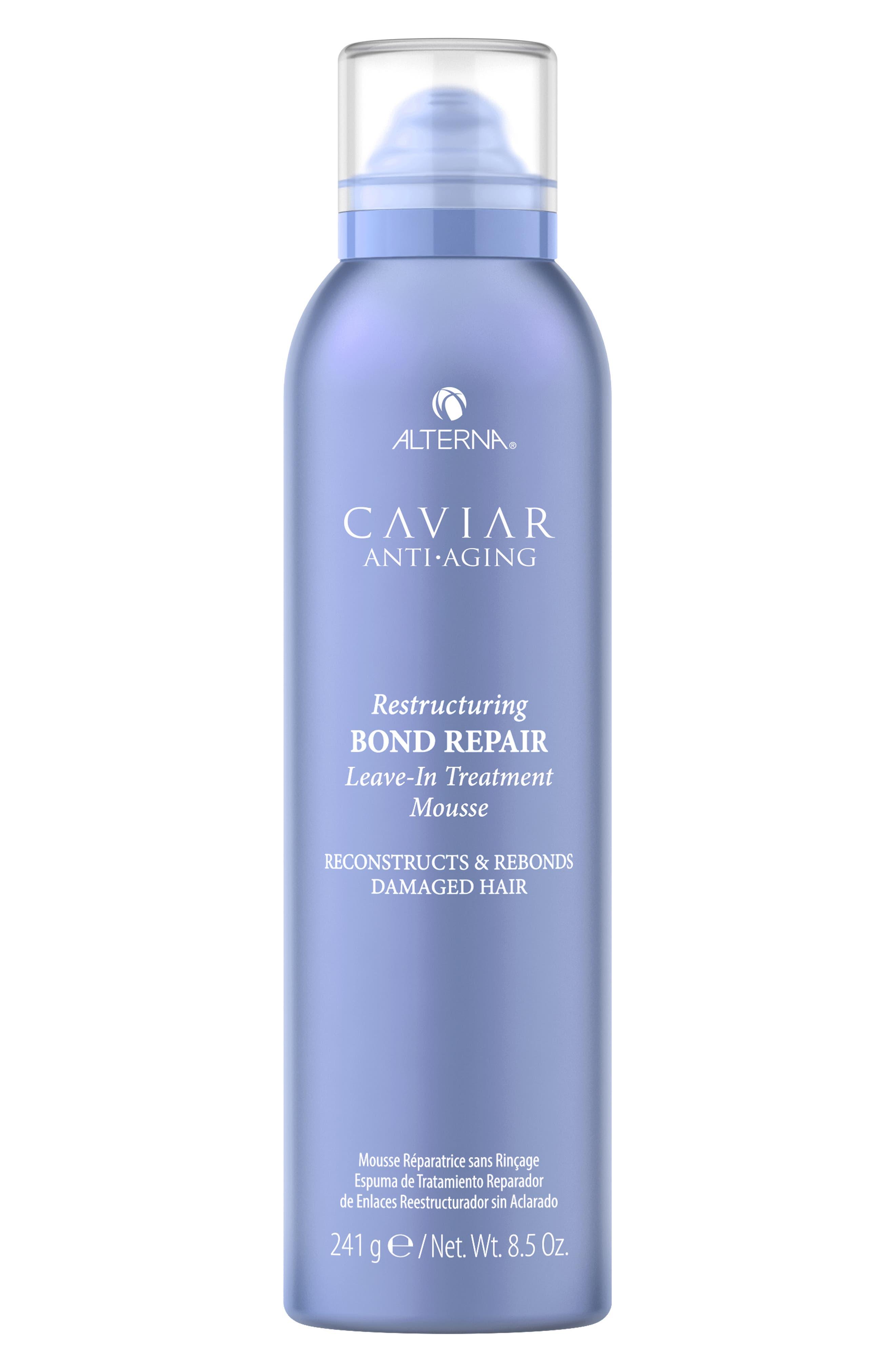 Alterna Caviar Anti-Aging Restructuring Bond Repair Leave-In Treatment Mousse