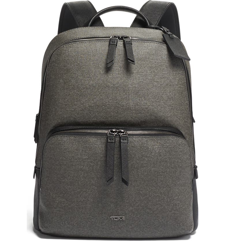 TUMI Varek Hudson Faux Leather Backpack, Main, color, 020