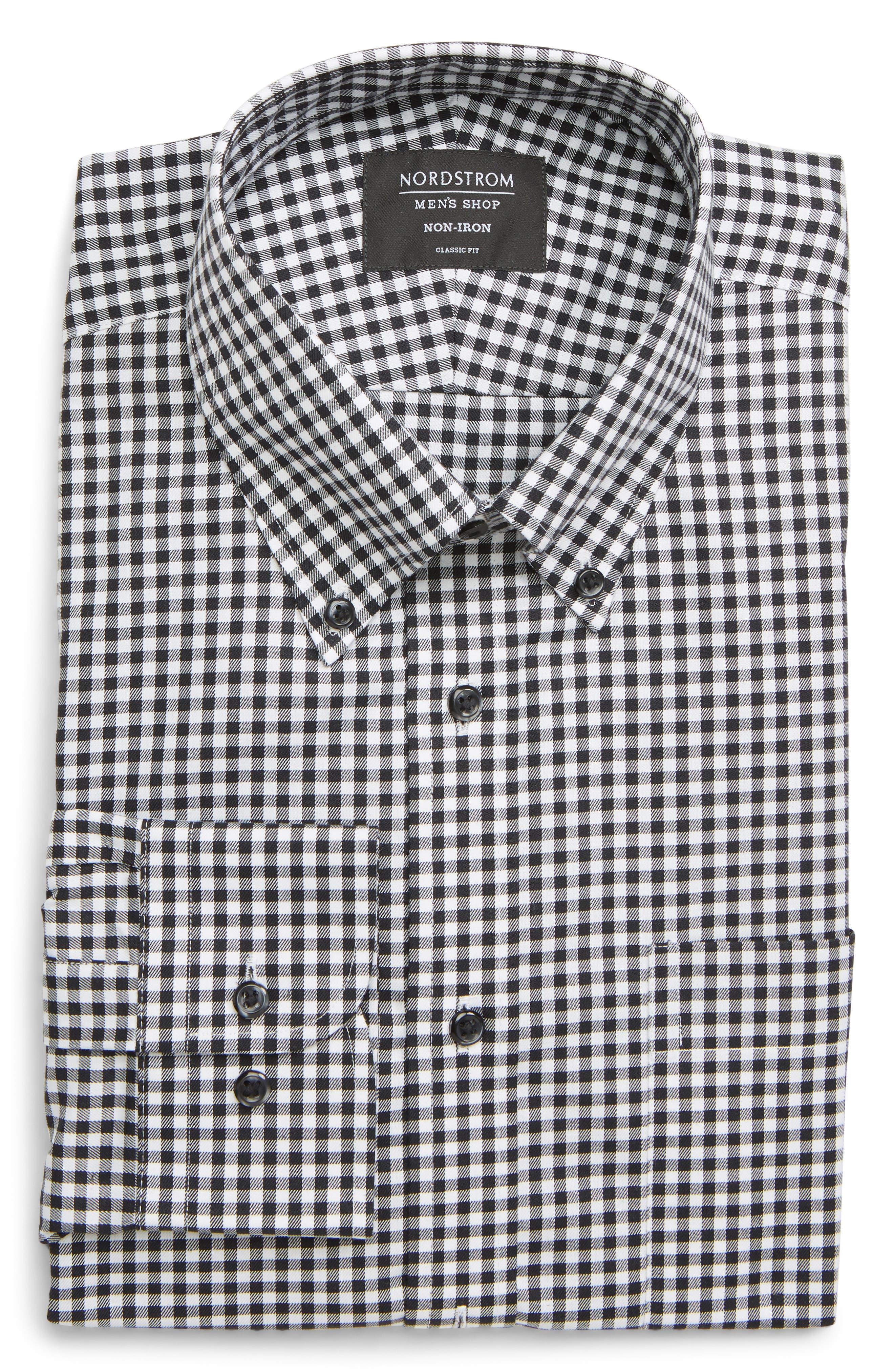 Men's Big & Tall Nordstrom Classic Fit Non-Iron Gingham Dress Shirt