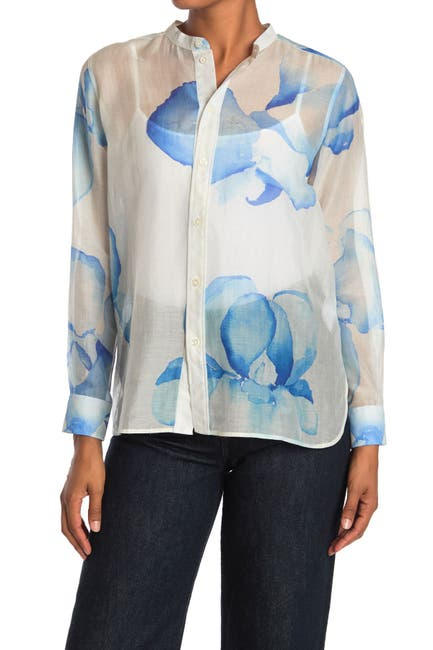 Image of Billy Reid Azur Button Front Shirt