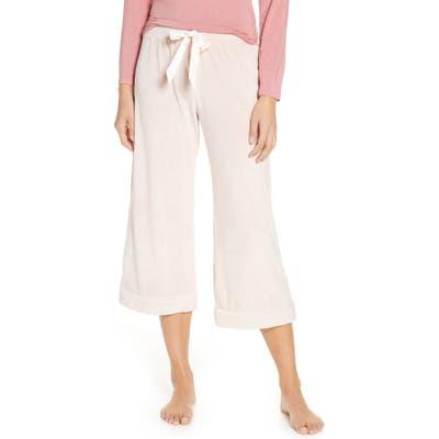 Rachel Parcell Velour Crop Pajama Pants, Pink (Nordstrom Exclusive)