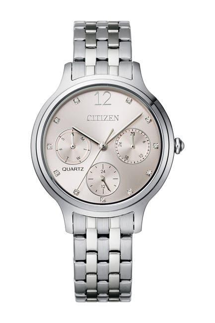 Image of Citizen Women's Quartz Stainless Steel Bracelet Watch, 33mm