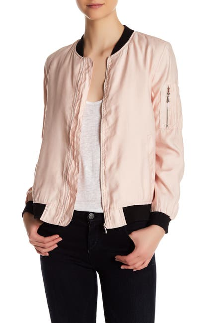 Image of Dex Two-Tone Bomber Jacket