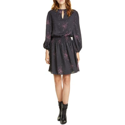 Joie Ramla Keyhole Neck Long Sleeve Dress, Black