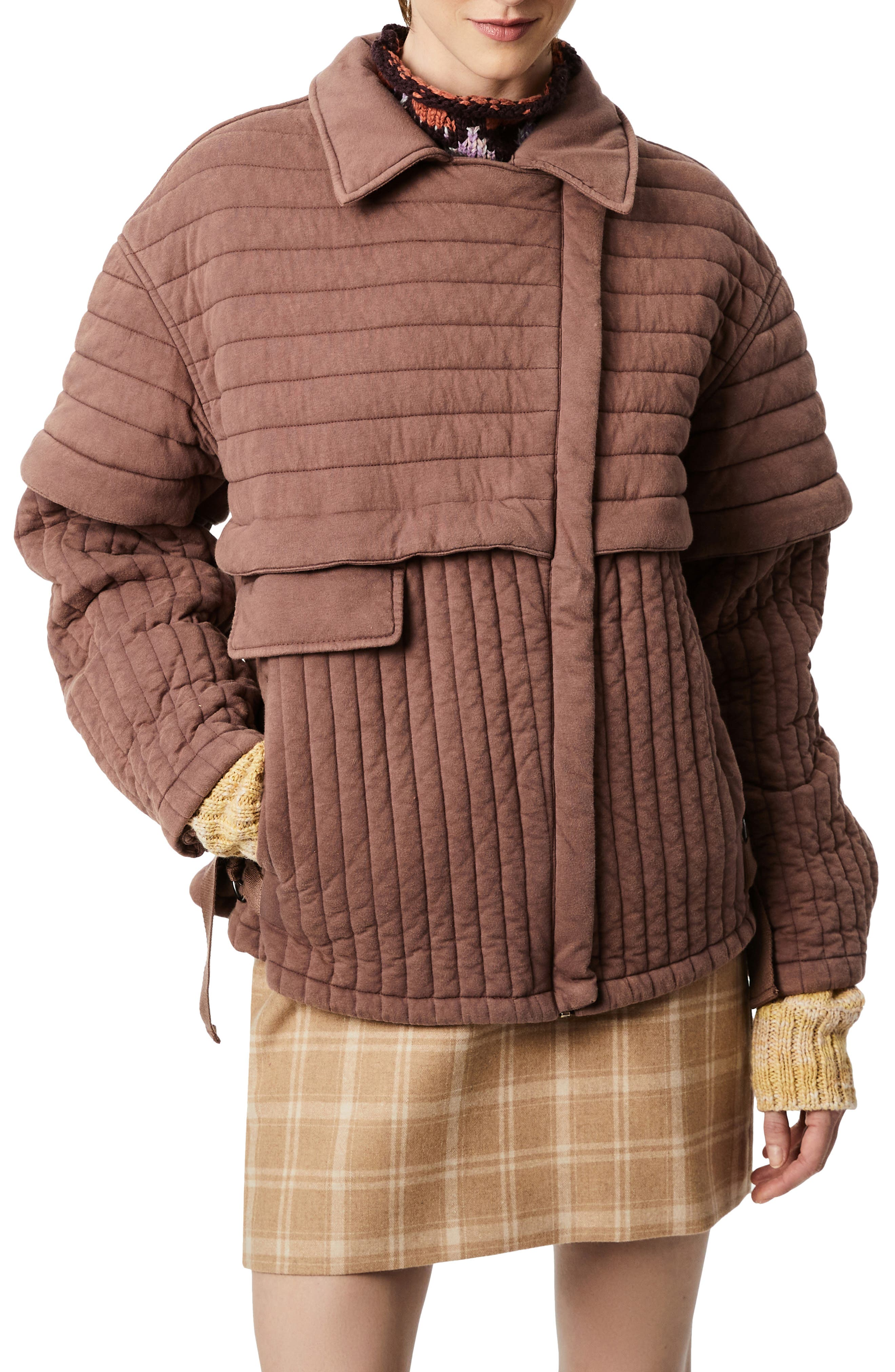 Mix Quilted Asymmetrical Jacket