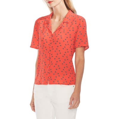 Vince Camuto Floral Print Shirt, Red