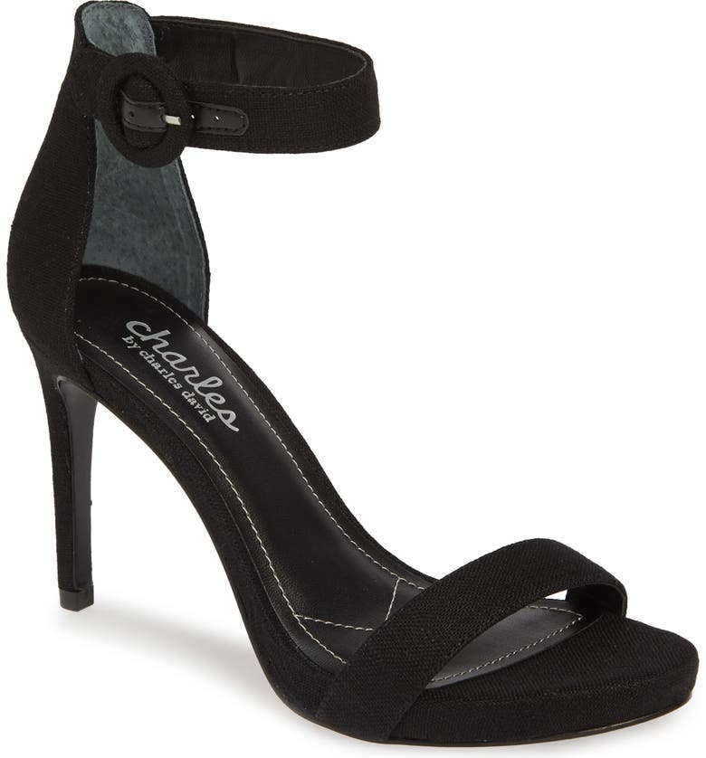 CHARLES BY CHARLES DAVID Cairo Sandal, Main, color, BLACK FABRIC