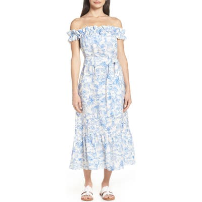 Tory Burch Off The Shoulder Cover-Up Dress, Ivory