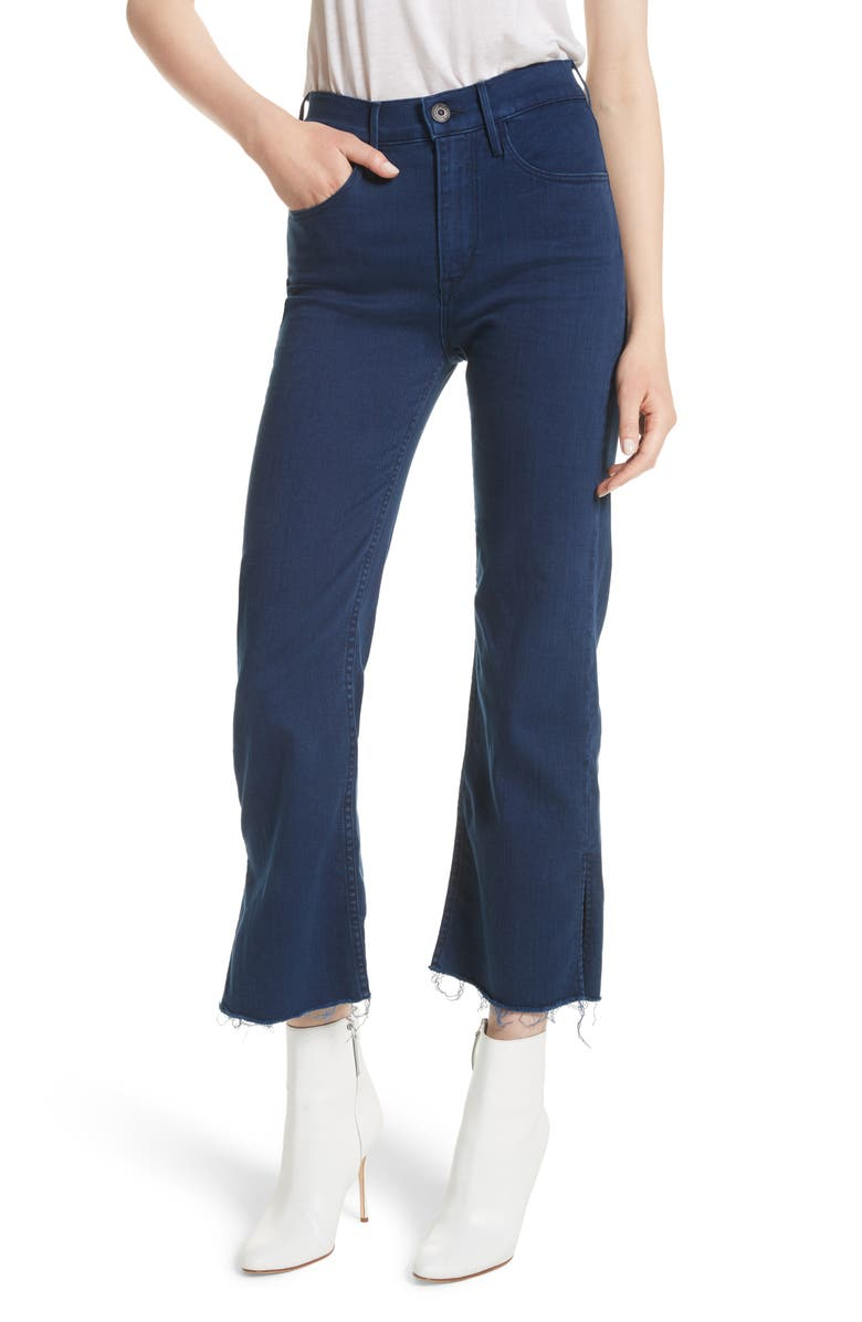 3X1 NYC W4 Shelter Crop Wide Leg Jeans, Main, color, 411