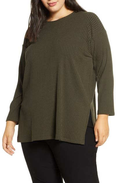 Eileen Fisher Tops RIBBED LONG SLEEVE TOP
