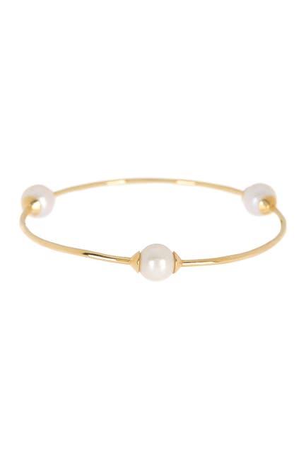 Image of Ippolita 18K Yellow Gold Nova 3-Station 11mm Pearl Freshwater Pearl Bangle Bracelet
