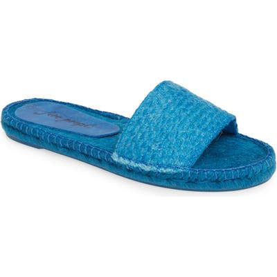 Free People Beach Front Espadrille Slide Sandal, Blue
