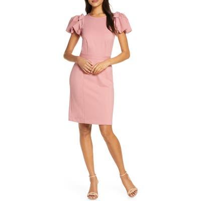 Rachel Parcell Bow Shoulder Detail Sheath Dress, Pink (Nordstrom Exclusive)