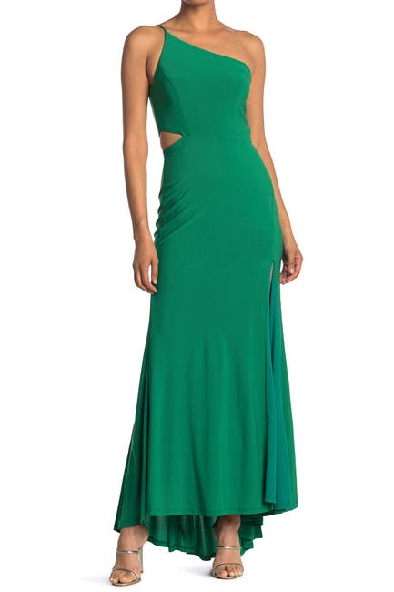 Image of JUMP One-Shoulder Side Cutout Gown