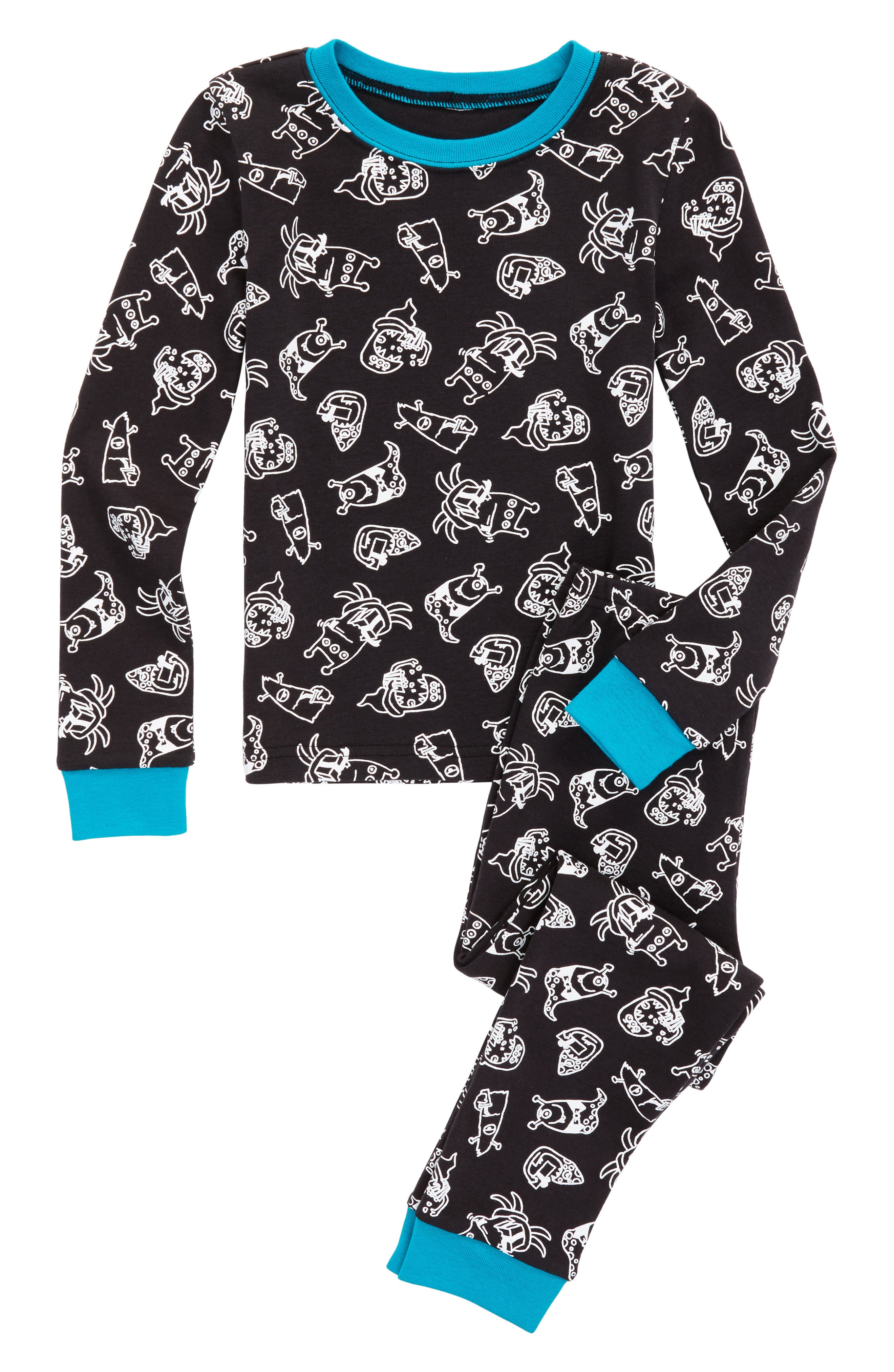 ,                             Fitted Two-Piece Pajamas,                             Main thumbnail 23, color,                             002