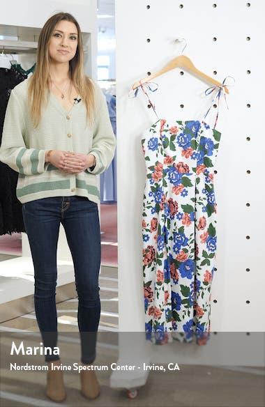 Floral Print Tie Strap Midi Sundress, sales video thumbnail