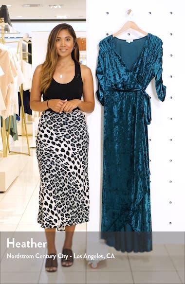 Cara Crushed Velvet Wrap Gown, sales video thumbnail