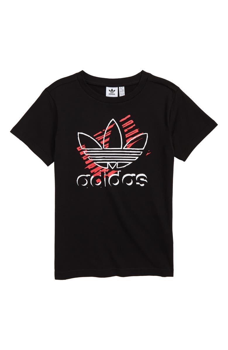 ADIDAS ORIGINALS Trefoil Art T-Shirt, Main, color, 001