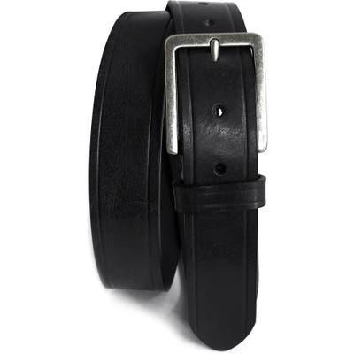 Boconi Embossed Leather Belt, Black