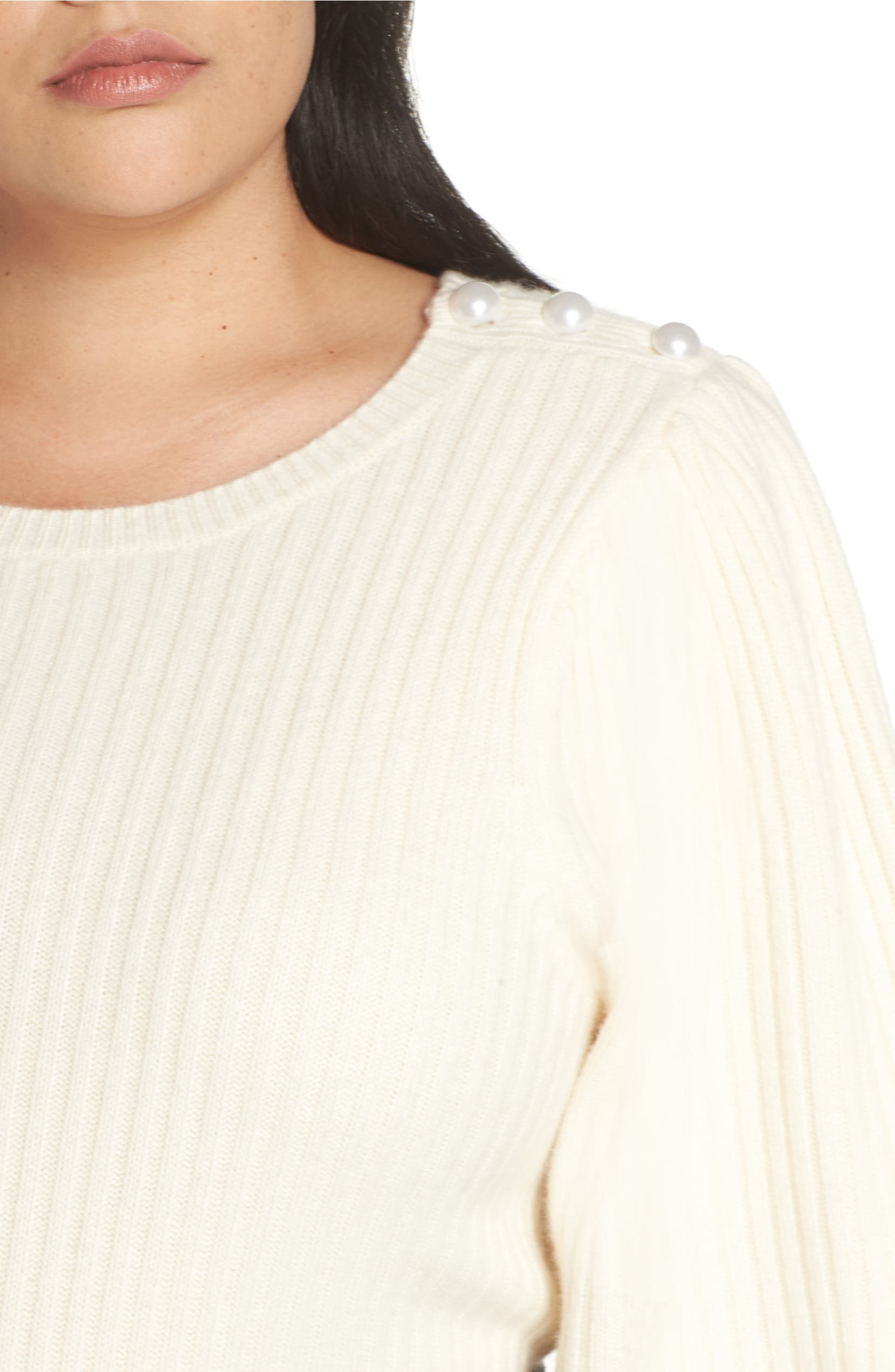4ebe72890ef Halogen® x Atlantic-Pacific Balloon Sleeve Wool & Cashmere Sweater (Plus  Size) | Nordstrom
