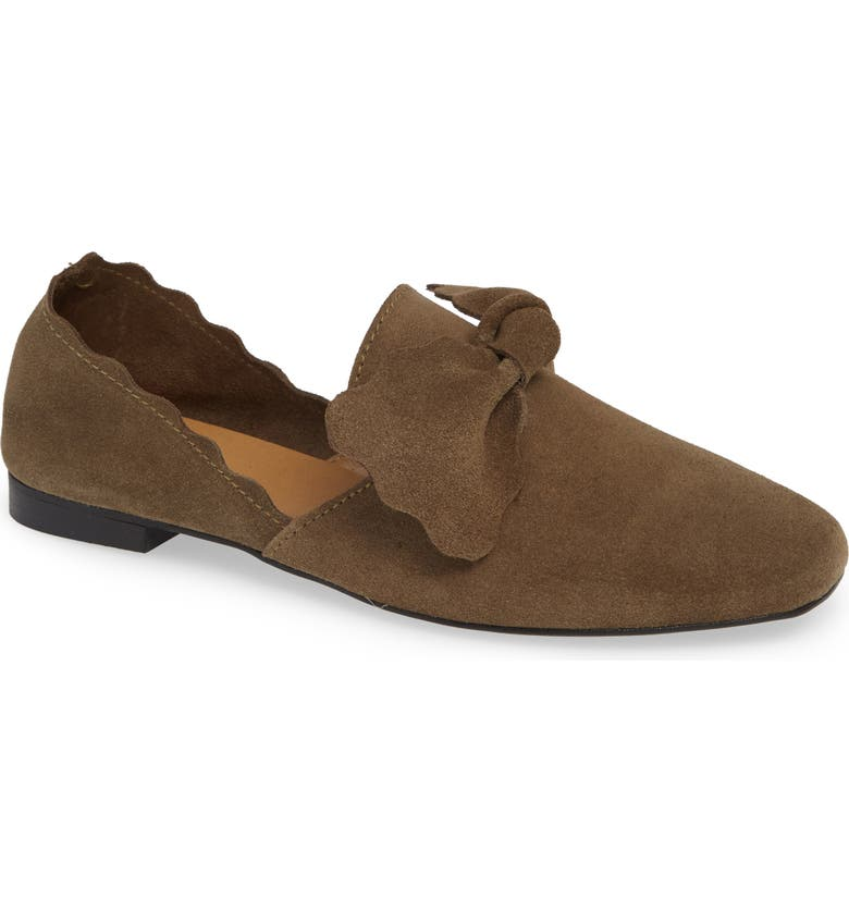 KLUB NICO Giovana Flat, Main, color, OLIVE SUEDE