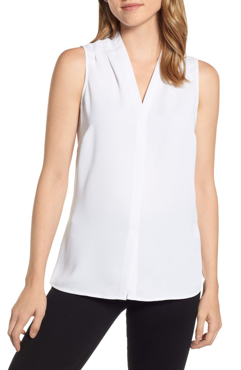 NIC+ZOE Day to Night Top, Main, color, PAPER WHITE