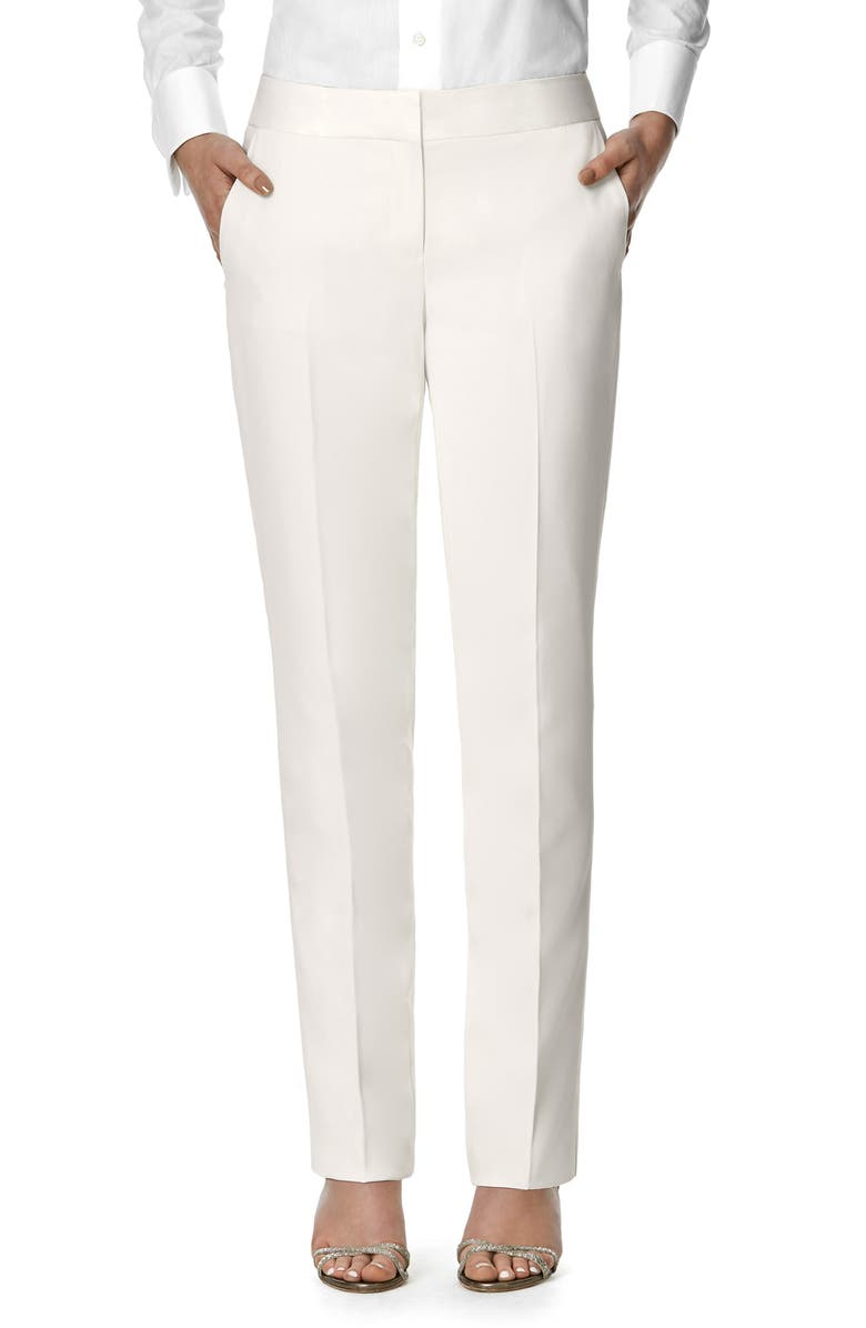 AFTER SIX Eve Bridal Tuxedo Pants, Main, color, IVORY