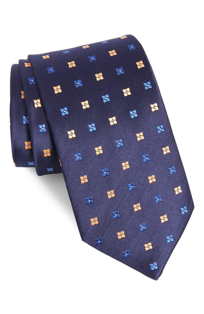 ETON Geometric Silk Tie, Main, color, 400