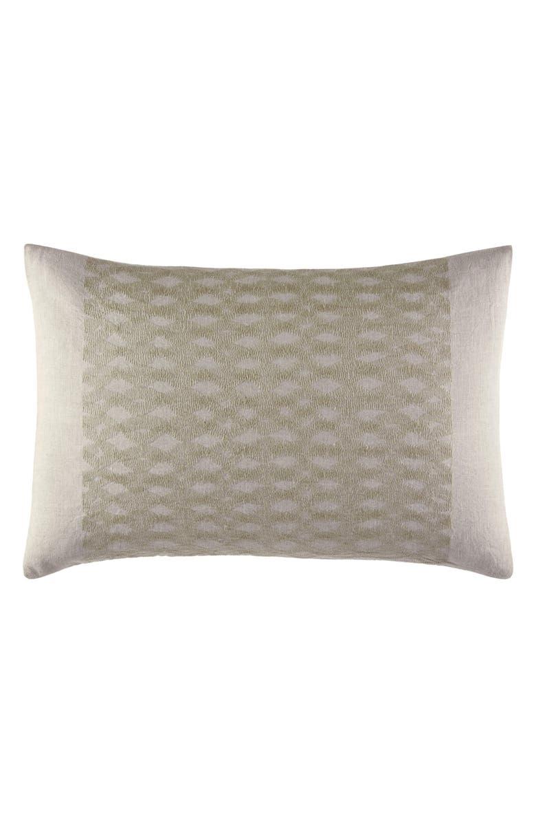 VERA WANG Layered Stitching Breakfast Accent Pillow, Main, color, NATURAL
