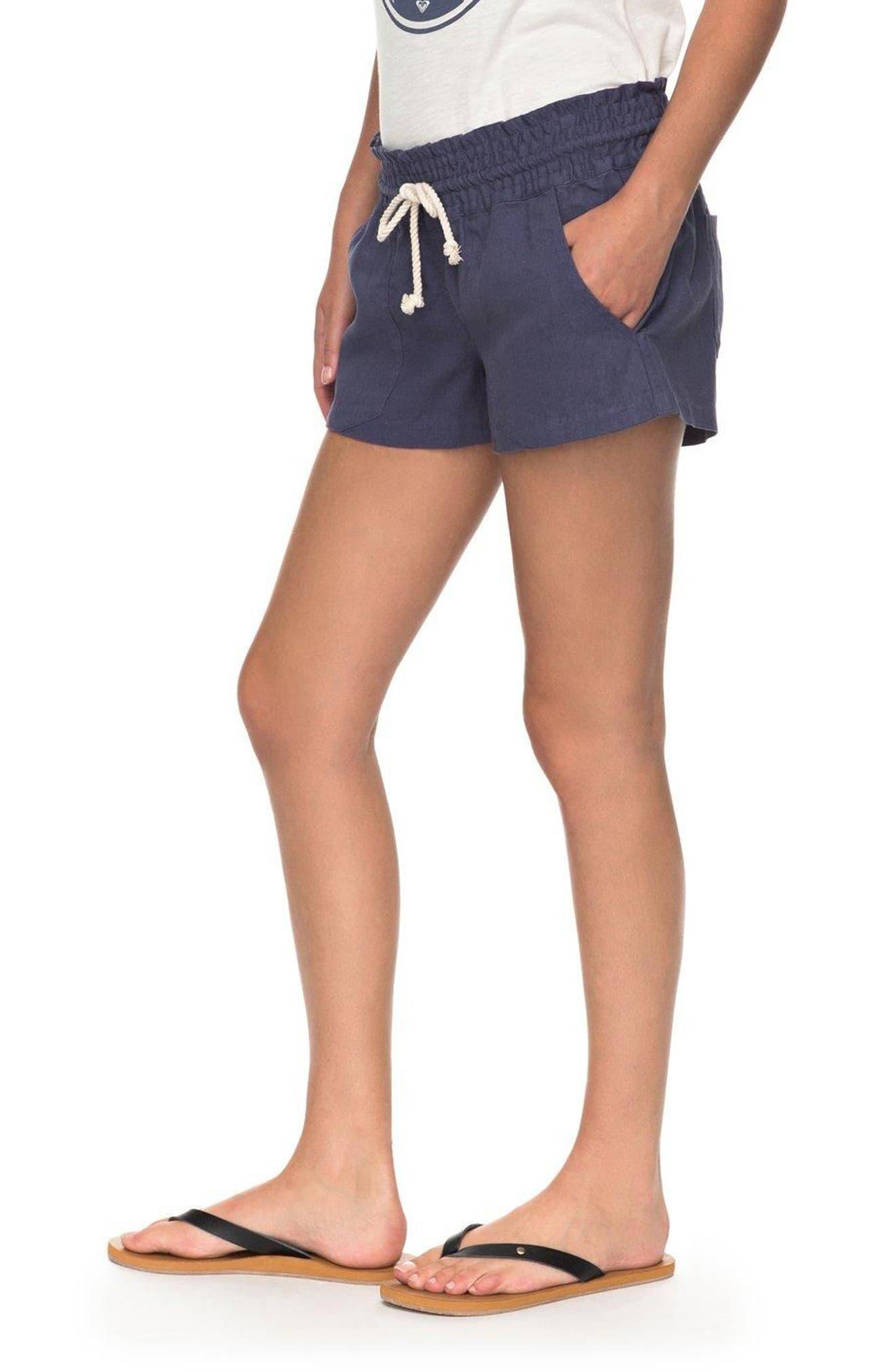 ,                             'Oceanside' Linen Blend Shorts,                             Alternate thumbnail 9, color,                             412